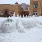 Снежные постройки в «Солнечном городе»